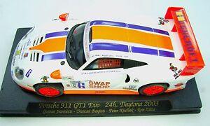 A58-88031-Fly-car-model-Porsche-911-GT1-Evo-24hr-Daytona-2003-MIB-1-32-ranura-de-coche