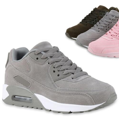 Damen Sportschuhe Runners Leder-Optik Sneakers Laufschuhe 815472 Trendy