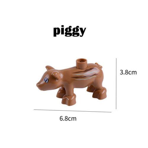 Animal Building Block Sets Elephant Monkey Horse Big Figures Kids Toys Christmas