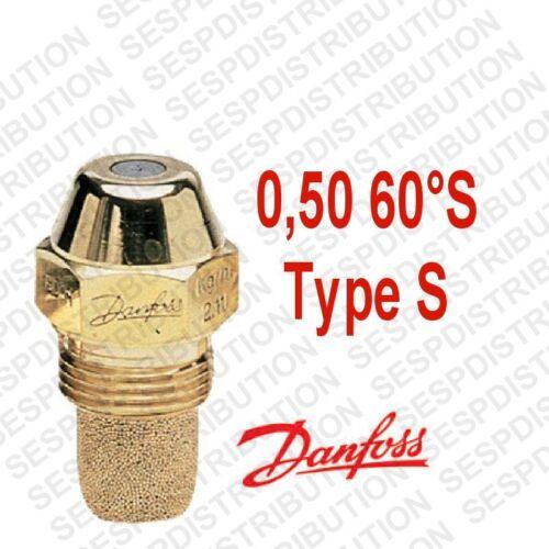 gicleur DANFOSS S débit 0,50 60 °S nozzle fioul 030F6908 en stock