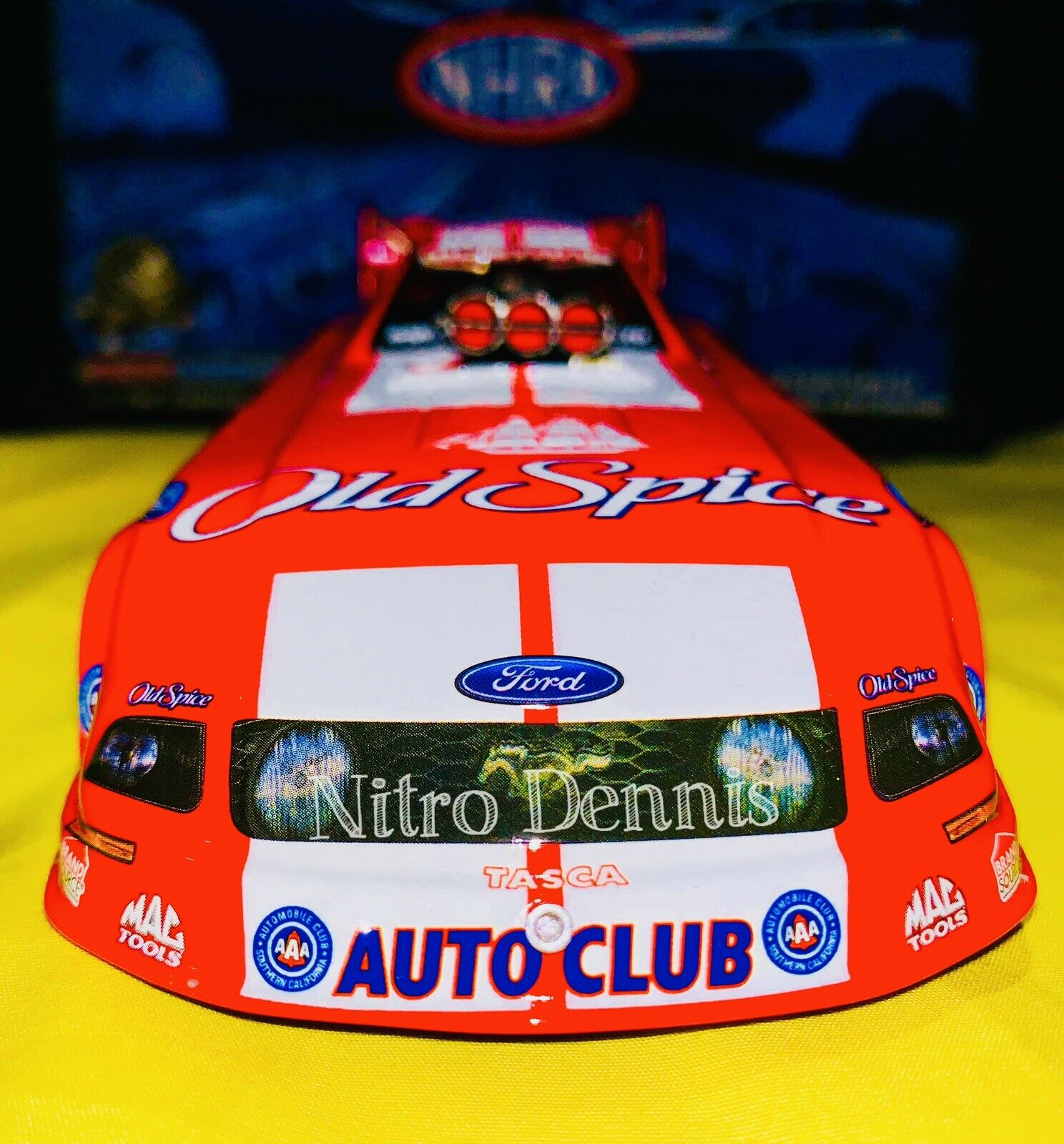 NHRA JOHN FORCE RACING 1 24 NITRO Funny Car MIKE NEFF Diecast Action OLD SPICE