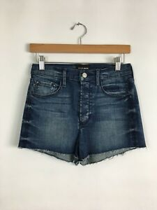 orchidee 27 High Shorts Fly 489 Rise Shorts Zwarte afgesneden knop donkerblauw 170 dFw7Aqz
