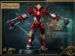 Hot Toys Iron Man 3 Le vivaneau rouge Mark Xxxv Mk35 Protocole de fête dans la maison scellé / nouveau!