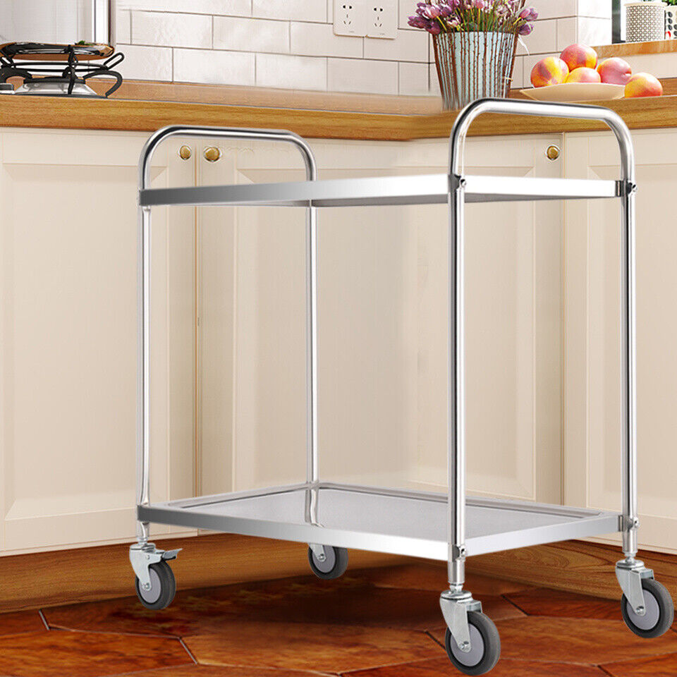 Kitchen Trolley Rack Fruit Vegetable Holder Storage Shelf Catering Serving Cart
