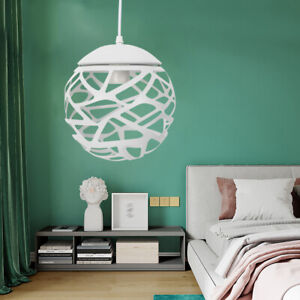 Ceiling-Pendant-Light-20CM-Ball-Shape-Lamp-Iron-Chandelier-Modern-decor-USA