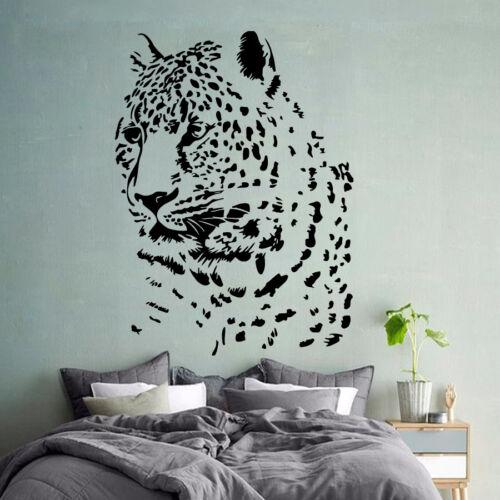 Cheetah Wall Decal Zoo Vinyl Stickers Safari Decals Leopard Wild Cat Decor KI164