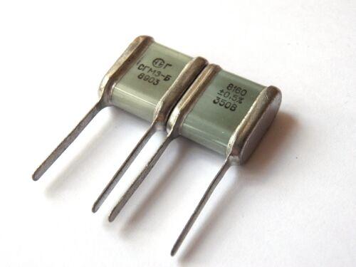 8160pF 350V 0.5/% ex-USSR Silver Mica SGM Capacitor Hi-End 16pcs