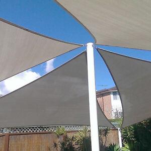Gray Custom Triangle Waterproof Sun Shade Sail Screen Patio Yard Uv