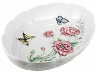 Lenox Butterfly Meadow Fine Porcelain Oval Baker , New, Free Shipping on sale