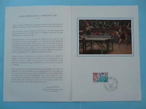 table tennis French Federation FDC folder 1977