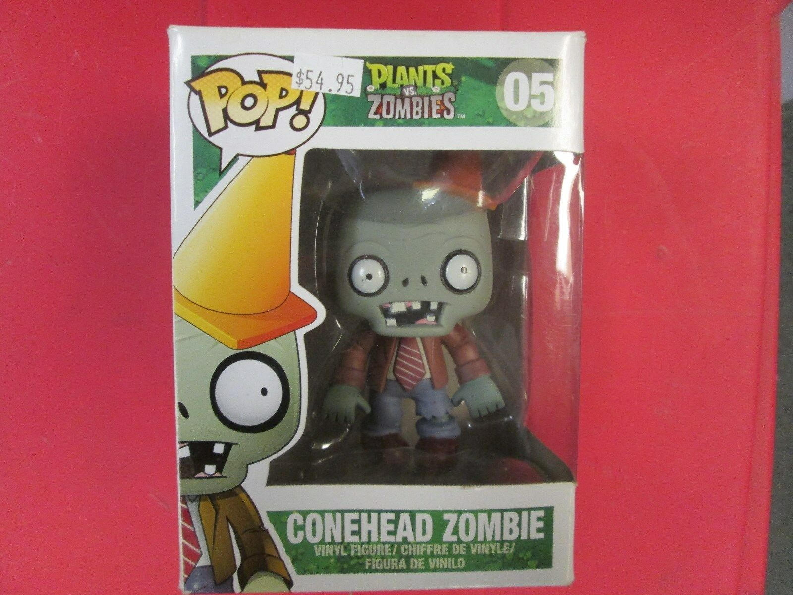 Pop Pop Pop figure conehead zombie from plants vs. zombies New 4ae245