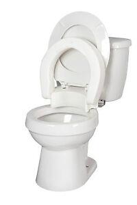 Hinged Toilet Seat Riser By Medbasix Ebay