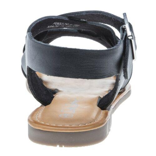 New Womens SOLESISTER Black Autumn Leather Sandals Gladiators Buckle Straps