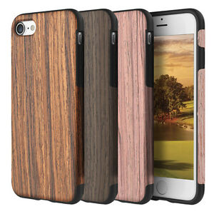 For-Apple-iPhone-XS-X-8-7-Plus-Real-Wood-Wooden-Slim-Fit-Hybrid-TPU-Case-Cover
