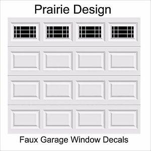 Garage Door Window Decals Prairie Design Faux Vinyl