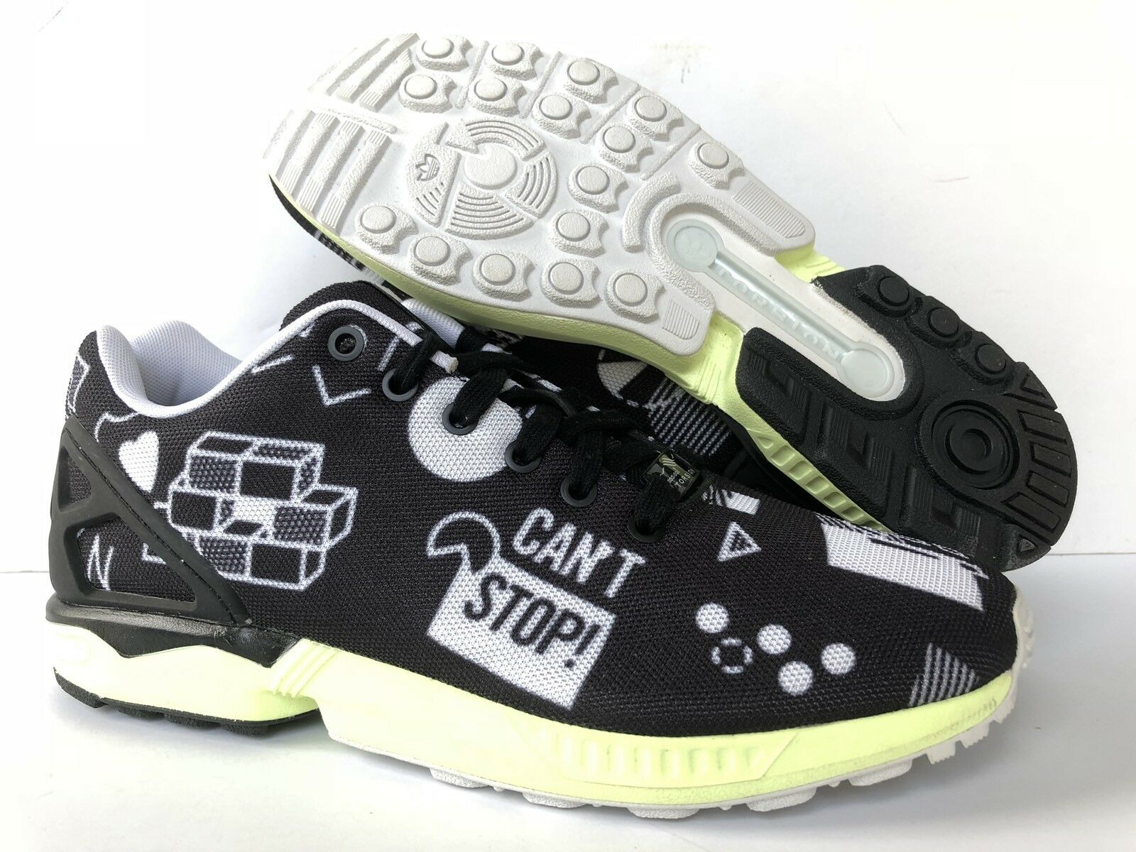 ADIDAS TORSION ZX FLUX  BLACK/WHITE Price reduction US MENS Price reduction Wild casual shoes