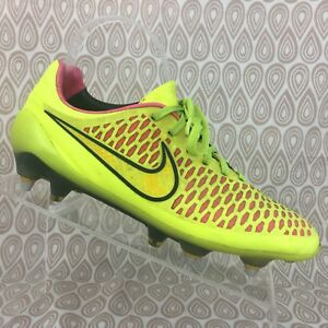 nouvelle arrivee bfe21 68e83 Details about Nike Magista Opus FG Football Soccer Boots Cleats Size 6  Men's Yellow Pink S369