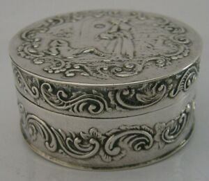 STUNNING-ANTIQUE-DUTCH-SOLID-STERLING-SILVER-BOX-LONDON-IMPORT-1892-VICTORIAN