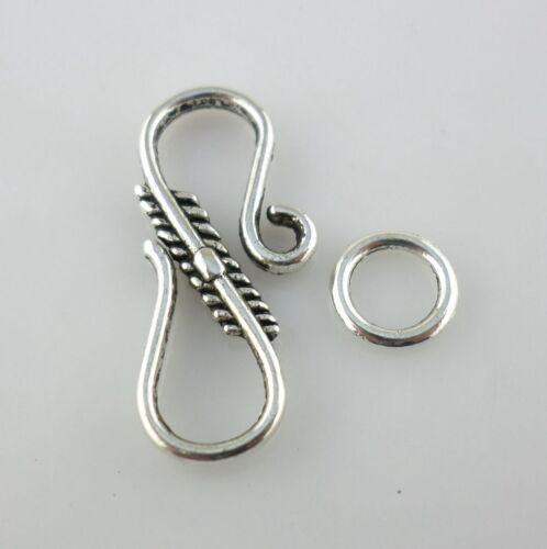 Antique Silver S-shape Hooks Clasps Interface Toggle Connectors for Jewelry