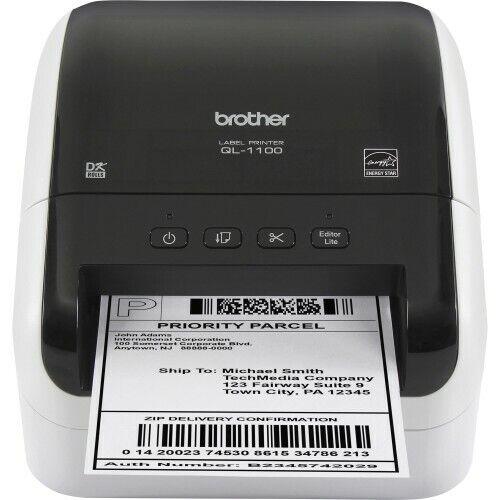 Monochrome Brother QL-720NW Direct Thermal Printer Desktop Label Print