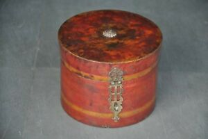 Antigua-Madera-Hecho-a-Mano-Laqueado-Maciza-Polvo-Caja-Coleccionable
