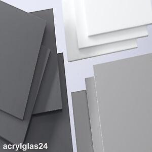 pvc hart kunststoff platte polyvinylchlorid schwarz wei grau maschinenbau ebay. Black Bedroom Furniture Sets. Home Design Ideas
