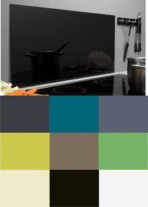 Wand Spritzschutz spritzschutz aus glas 9 farben glasrückwand küche herd wand ceran