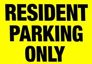 Details about RESIDENT PARKING ONLY ≈ METAL SIGN no flats apartments  tenants aluminium notice