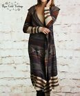 NWT Boutique Umgee Long Hooded Sweater Cardigan - Brown - Small, Medium & Large