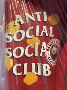 Anti-Social-Social-Club-x-Panda-Express-Hoodie-Red-Large-100-Authentic