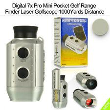 Digital 7x Pro Mini Pocket Golf Range Finder Laser Golfscope 1000Yards Distance