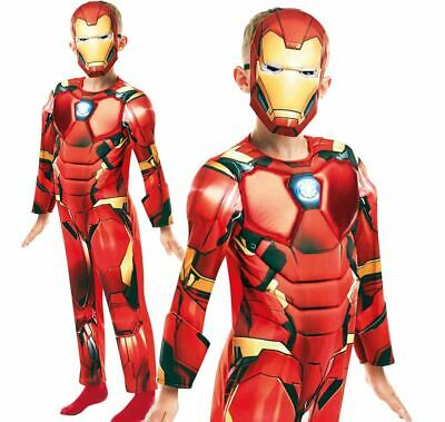 Boys Deluxe Iron Man Avengers Infinity War Costume Child Fancy Dress Outfit