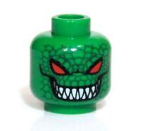 Lego Batman Killer Croc Green Red Eyes Minifigure Head Authentic Rare