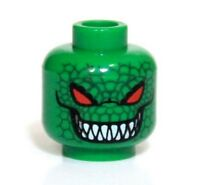 Lego Batman Killer Croc Green Red Eyes Minifigure Head Authentic Rare