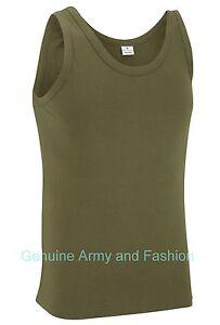 NEW-COMBAT-US-OLIVE-ARMY-SINGLETS-SLEEVELESS-VESTS-TANK-TOP-FANCY-DRESS