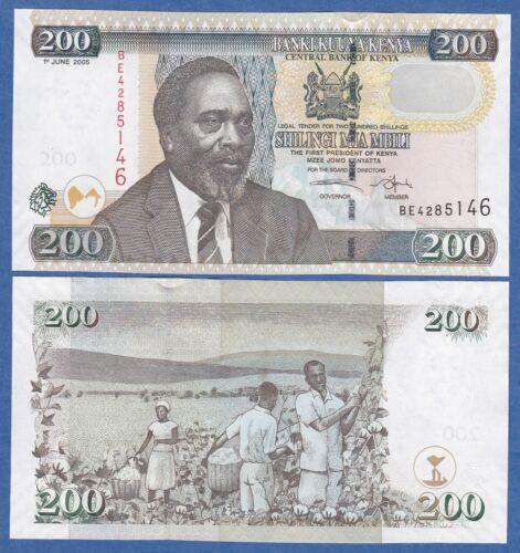 Kenya 200 Shillings P 49 a 2005 UNC Low Shipping Combine FREE! P-49a