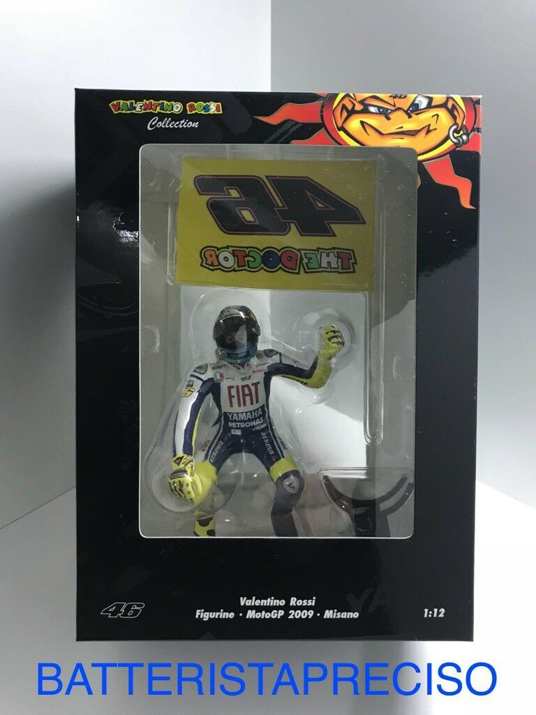 MINICHAMPS VALENTINO ROSSI 1 12 FIGURINE WINNER MISANO 2009 WITH FLAG 312090376