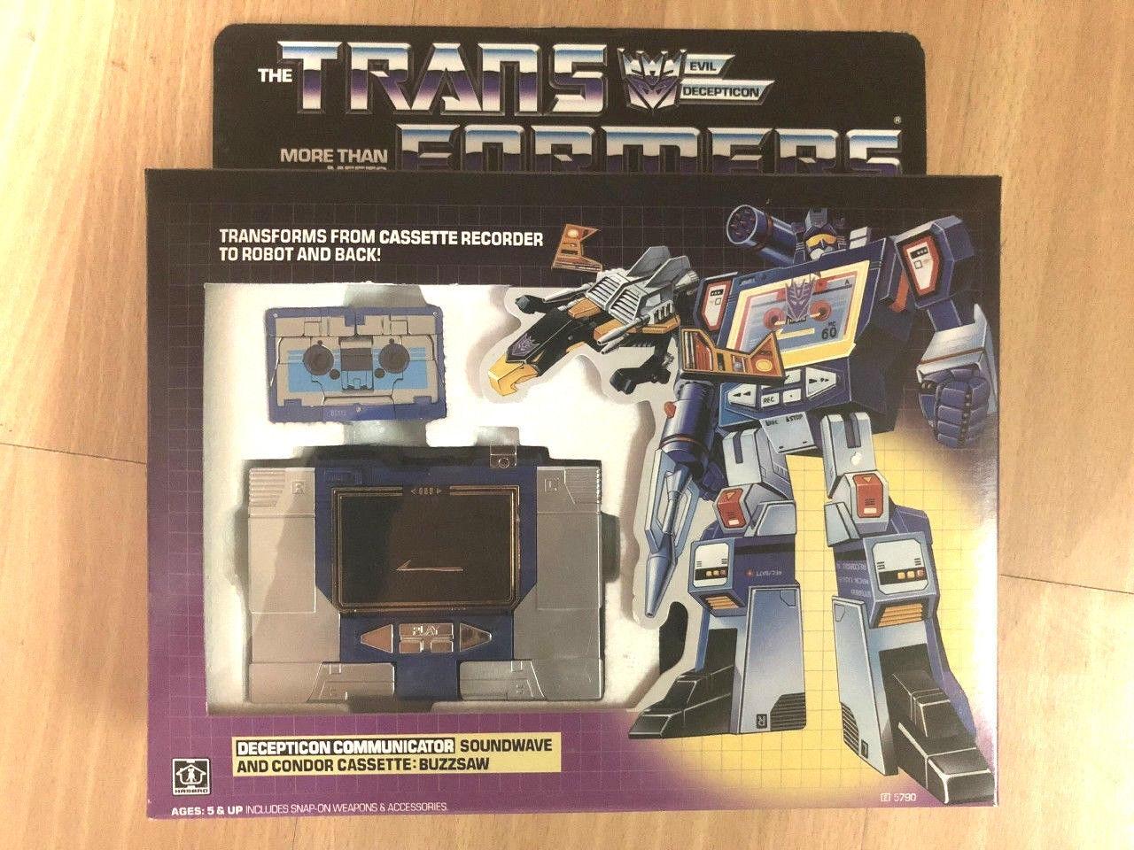 G1 transformers soundwave neuauflage neu mit einer zufälligen kassetten - geschenk