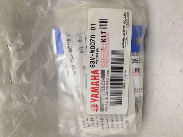 Yamaha 63V-W0078-01-00 OFFICIAL YAMAHA WATER PUMP REPAIR KIT Same Day Shipping
