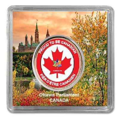 2012 Canadian Penny BC Provincial Flag Canada 150