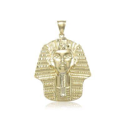 10k Yellow Gold Pharaoh Pendant Gold Pharaoh Head Charm