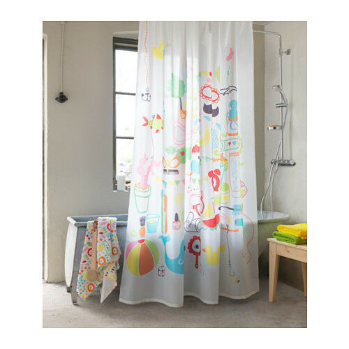 IKEA BADBACK Shower Curtain Multicolor Part 40