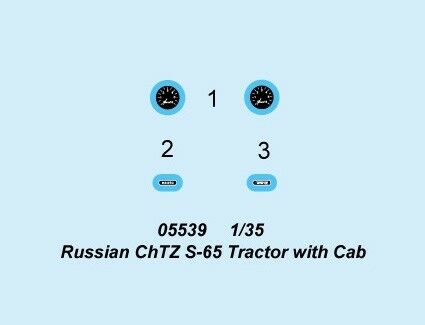 Russian Chtz S-65 Tractor With Cab 1:35 Plastic Model Kit TRUMPETER