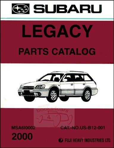 Incredible 2000 Parts Subaru Spare Book Catalog Manual Legacy Nuebiy2239 Other Wiring Digital Resources Hetepmognl