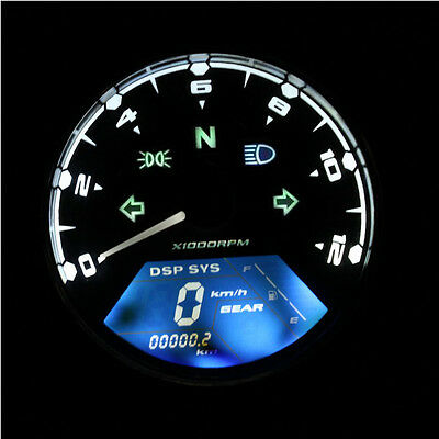 LCD Digital Odometer 12000RPM Speedometer Tachometer For Motorcycle Scooter