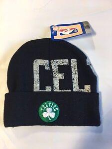 Boston-Celtics-Knit-Beanie-Toque-Skull-Cap-Winter-Hat-NEW-NBA-Black-Cuffed