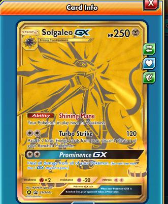 Digital//In-game Digital Solgaleo GX Promo for Pokemon PTCGO Online SM104