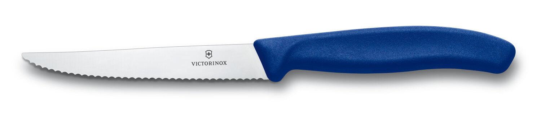 Victorinox 12 x Coltello Bistecca Costata bleu Seghettato Sega Ondulato 6.7232