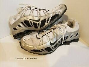 low priced 3a1d5 78a40 Details about Nike Shox Turbo 3.2 SL Running Shoes Mens 11.5 White/black  #455541-102