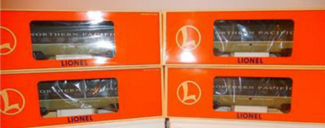 LIONEL- 19166- FOUR CAR NORTHERN PACIFIC FULL VISTA DOME ALUMINUM PSNGR SET- NEW